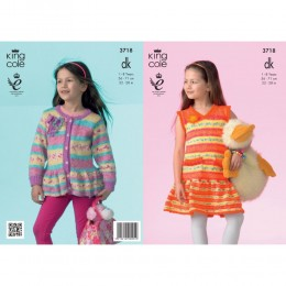 KC3718 Dress and Cardigan for Children