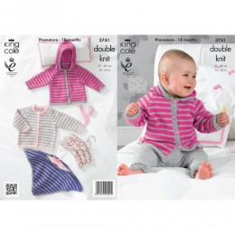 KC3741 Poncho, Cardigan and Jacket for Babies in King Cole Comfort DK