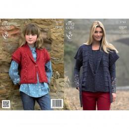 KC3743 Jackets for Women in King Cole Fashion Aran