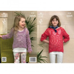 KC3749 Sweaters for Girls in King Cole Opium