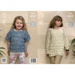 KC3750 Sweater and Top for Girls in King Cole Opium
