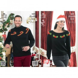 KC3809 Candy Cane or Holly Jumper for Men and Women in DK