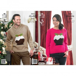 KC3810 Christmas Pudding Jumper for Men and Women in DK