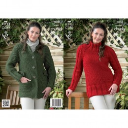 KC3818 Coat and Tunic for Women in King Cole Big Value Super Chunky