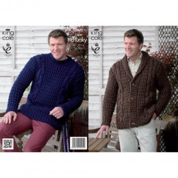 KC3820 Jacket and Sweater for Men in King Cole Big Value Super Chunky