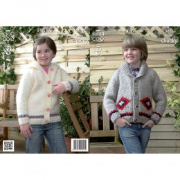 KC3821 Jackets for Children in King Cole Big Value Super Chunky