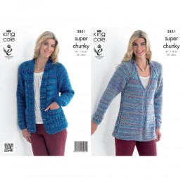 KC3851 Tunic and Cardigan for Women in King Cole Gypsy Super Chunky