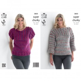 KC3852 Sweaters for Women in King Cole Gypsy Super Chunky