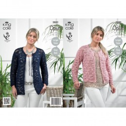 KC3882 Cardigan for Women in King Cole Opium
