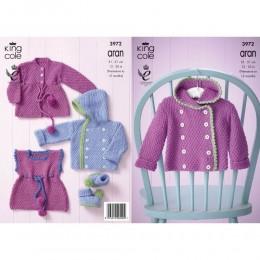 KC3972 Baby Set in King Cole Comfort Aran