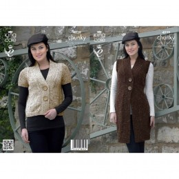 KC4039 Waistcoats for Women in Chunky Tweed