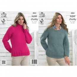 KC4063 Sweaters for Women in King Cole Big Value Super Chunky