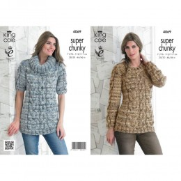 KC4069 Sweaters for Women with King Cole Gypsy Super Chunky