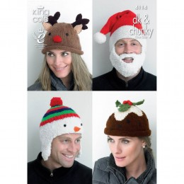 KC4114 Christmas Hats for Adults in DK and Chunky