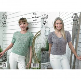 KC4126 Top and Cardigan for Women in Authentic DK