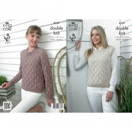 KC4127 Sweater and Top for Women in Authentic DK
