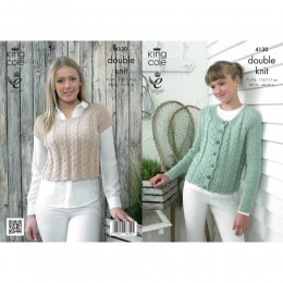 KC4130 Cardigan and Top for Women in Authentic DK