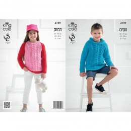 KC4139 Sweaters for Children in Recycled Cotton Aran