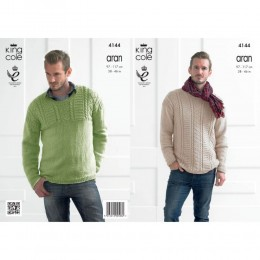 KC4144 Sweaters for Men in Recycled Cotton Aran