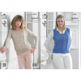 KC4179 Slipover and Sweater for Women in King Cole Opium