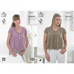 KC4181 Top and Cardigan for Women in King Cole Opium