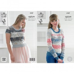 KC4187 Sweater and Top for Women in King Cole Opium Palette
