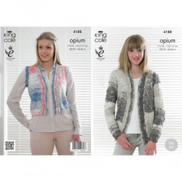 KC4188 Jacket and Waistcoat for Women in King Cole Opium Palette