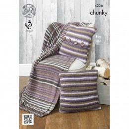 KC4236 Blanket and Cushions for the Home in King Cole Riot Chunky