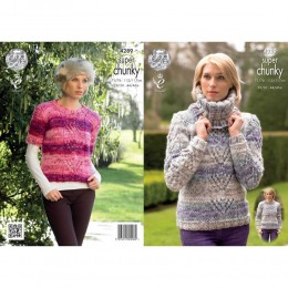 KC4289 Women Sweaters and Cowl Knitted with Big Value Super Chunky