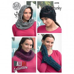 KC4298 Women Accessories Knitted with Florence Chunky