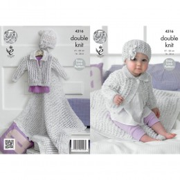 KC4316 Girl?s Cardigan, Blanket and Hat Knitted with Smarty DK