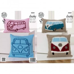 KC4324 Camper Van Cushions Knitted with Big Value Chunky