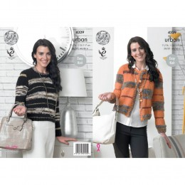 KC4329 Women Boxy Jacket and Sweater Knitted with Urban