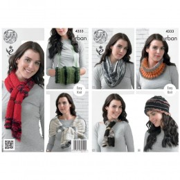 KC4333 Women Snood, Cowl, Neck Roll, Beanie, Scarf, Neck Wrap, Shoulder Wrap, Muffler Knitted with Urban