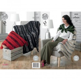 KC4335 Blankets, Throw, Cushion and Wrap Knitted with Urban