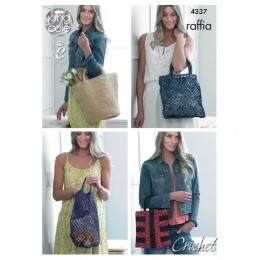 KC4337 Crocheted Bags Knitted with Raffia
