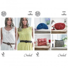KC4338 Crocheted Purses and Belts Knitted with Raffia