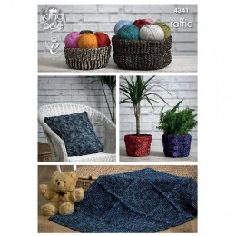 KC4341 Storage Baskets, Cushion Cover, Plant Pot Covers and Rug Knitted with Raffia
