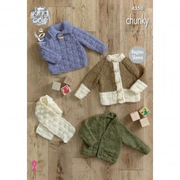 KC4350 Children Sweater, Cardigans and Scarf Knitted with New Magnum Chunky