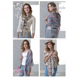 KC4390 Women Shawls and Scarf Knitted with Bamboozle