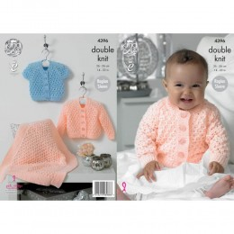 KC4396 Baby's Cardigans and Blanket Knitted with Baby Glitz DK