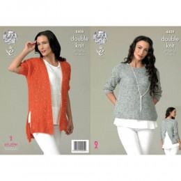 KC4408 Women Top and Cardigan Knitted with Galaxy DK