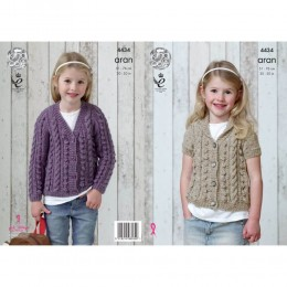 KC4434 Girl's Cardigans Knitted with Big Value Aran