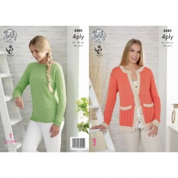 KC4480 Women Cardigan and Sweater Knitted with Bamboo Cotton 4Ply