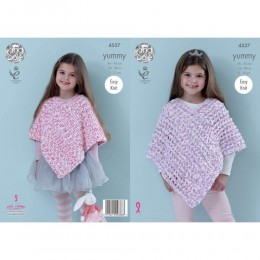KC4537 Girl's Ponchos Knitted with Yummy