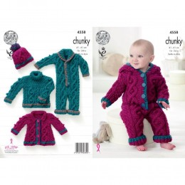 KC4558 Baby Set Knitted with Comfort Chunky