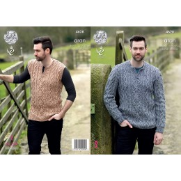 KC4628 Jumper and Slipover for Men in Fashion Aran Combo