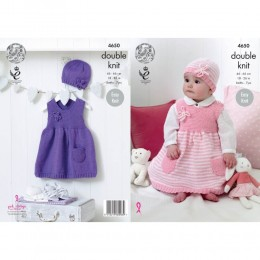 KC4650 Girl's Dresses & Hats Knitted with Cherished DK