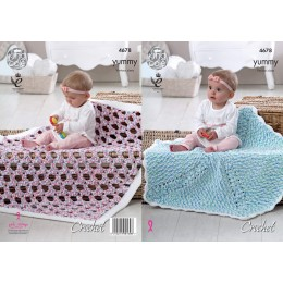 KC4678 Crochet Blankets in King Cole Yummy
