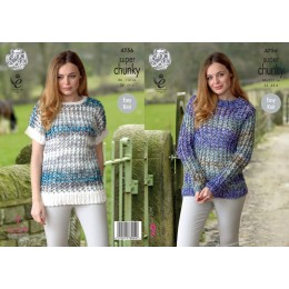 KC4756 Jumper and Top for Women in Super Chunky Tints